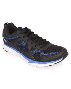 Apex Sprint Black Artificial Leather Running Sneaker For Men