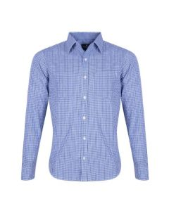 Sky Blue Cotton Formal Shirt For Men